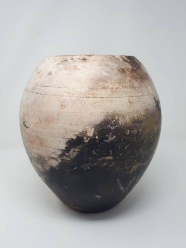 Pit fired vase