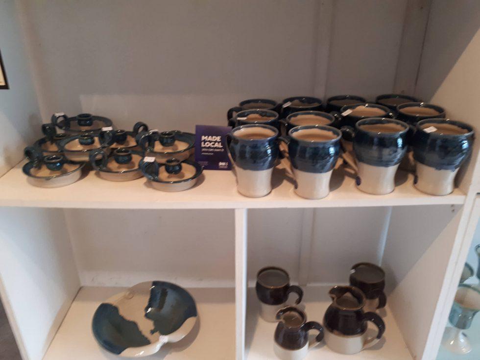 Mugs etc in shop