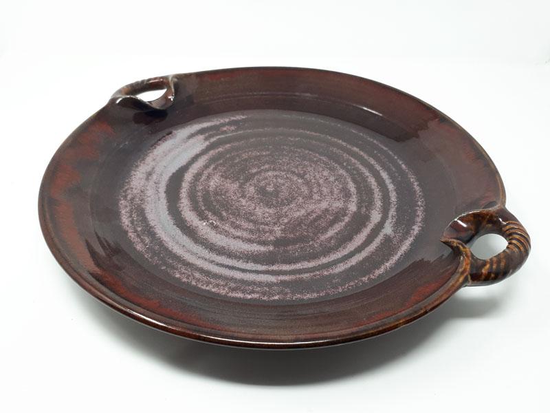 Copper red platter