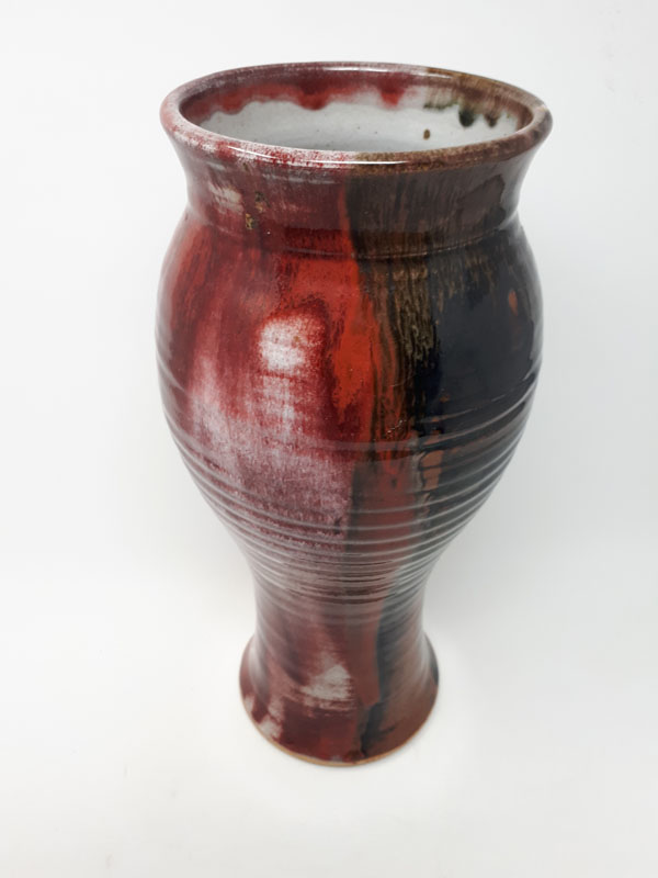 Copper red vase
