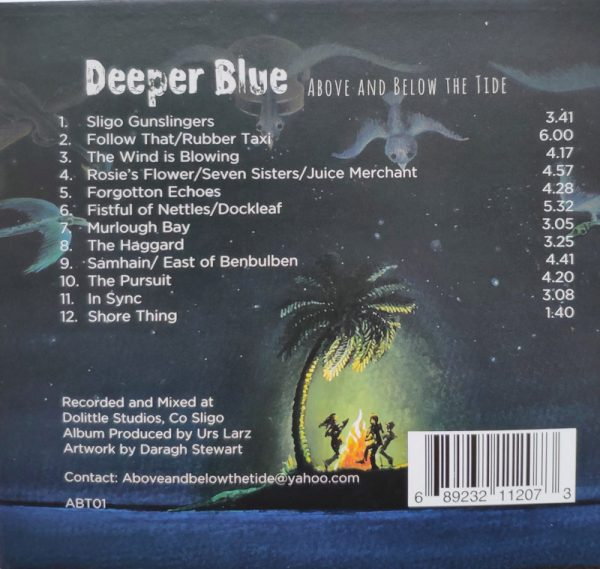 CD cover for Above and Below the tide song list