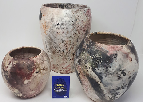 Pit fired pots